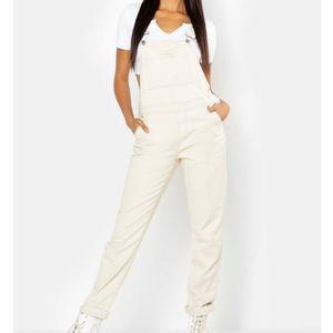NWOT⚡️ Cream Overalls   Dungarees Utility Jumpsuit
